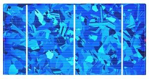 Polycrystalline Zonnecel Stock Afbeeldingen