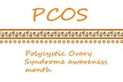 Polycystic jajnika syndromu świadomości miesiąc ilustracja wektor