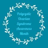 Polycystic jajnikowy syndrom świadomości miesiąc ilustracja wektor