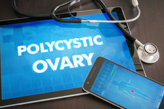 Polycystic ovary (endocrine disease related) diagnosis medical c Stock Photo