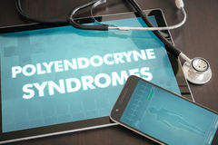 Polyendocryne syndromes (endocrine disease) diagnosis medical co Royalty Free Stock Image