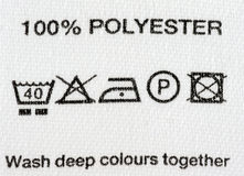 polyester 100 Photo stock
