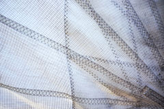 Polyester fabric sail. And seams close up Stock Photos