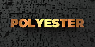 Polyester - Gold text on black background - 3D rendered royalty free stock picture. This image can be used for an online website banner ad or a print postcard Royalty Free Stock Photo