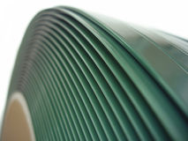 Green polyester tape roll. Polyester tape on white background Stock Images