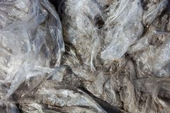 Polyethylene garbage Stock Image