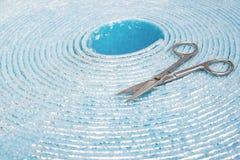 Polyethylene Insulation isolation foam with aluminum foil in roll. Polyethylene Insulation isolation foam with aluminum foil n roll stock photos
