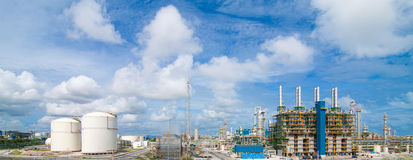 Polyethylene refinery plant Royalty Free Stock Photo