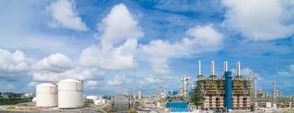 Polyethylene refinery plant Royalty Free Stock Photo