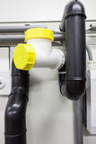 Polyethylene plumbing pipes Royalty Free Stock Photo