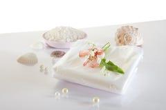 Polyethylene sheet for spa or clinic Stock Photos