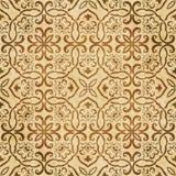 Polygo предпосылки ретро коричневого grunge текстуры акварели безшовное Стоковое Фото