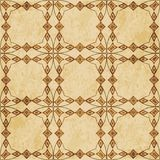 Polygo för kurva för bakgrund för Retro brun korktexturgrunge sömlös royaltyfri illustrationer