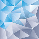 Polygon abstract  background blue and purple Stock Photos