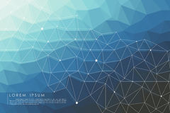 Polygon abstract background. Blue polygon abstract background vector Royalty Free Stock Photos