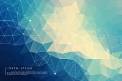 Polygon abstract background. Blue polygon abstract background vector Stock Photography