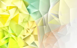 Polygon abstract background. A yellow green abstract polygon background Stock Images
