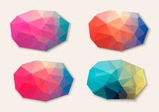 Polygon abstract banners. Stock Photo