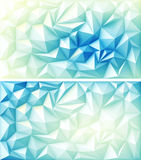 Polygon Abstract Polygonal Geometric Triangle Multicolored Blue Yellow Light Backgrounds Royalty Free Stock Images