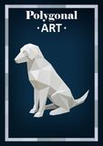 Polygon animals in abstract style. Polygon dog Stock Illustration
