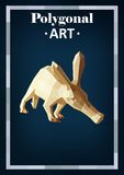 Polygon animals in abstract style. Polygonal animals anteater Vector Illustration