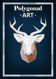 Polygon animals in abstract style. Polygonal animals deer Vector Illustration