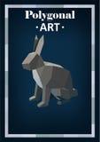 Polygon animals in abstract style. Polygonal animals rabbit Vector Illustration