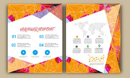 Polygon Annual Report,Book Cover Layout ,Leaflet Brochure,Flyer Template,A4 Size Stock Photography