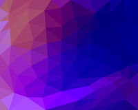 Polygon background beautiful gradient color blue tint.  Royalty Free Stock Image
