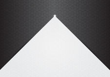 Polygon background hexagons half gray Stock Photo