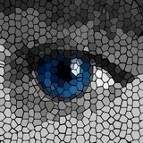 Polygon background with human eye,  Royalty Free Stock Photos