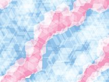 Polygon pastel blue pink background. Pink and blue polygon abstract background royalty free illustration