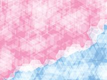 Polygon background. Pink and blue lines polygon abstract background Stock Image