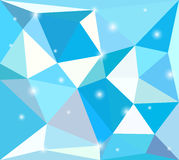 Polygon background with sparks Stock Photography