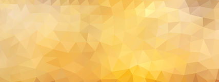 Polygon background widescreen honey, wide screen Royalty Free Stock Image