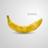 Polygon banana. Abstract illustration , origami. Vector Stock Photo
