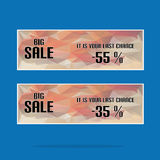 Polygon Banner With Sale Text Royalty Free Stock Photography