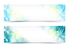 Polygon Banner Set. Polygon Abstract Banner Set or Website Header Stock Image
