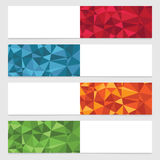 Polygon banners Royalty Free Stock Images