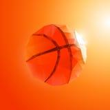 Polygon basketball Royalty Free Stock Images