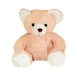 Polygon bear doll Royalty Free Stock Photography