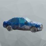 Polygon blue car Stock Photos
