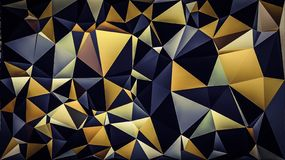 Polygon Blue green yellow white black color wallpaper. Polygon Blue green yellow white black color background stock illustration