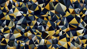 Polygon Blue yellow white black color wallpaper. Polygon Blue yellow white black color background vector illustration