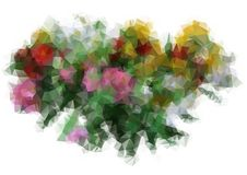 Polygon a bouquet of flowers Stock Images