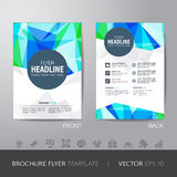 Polygon brochure flyer design layout template in A4 size, with b Stock Photos