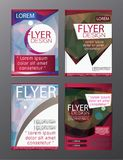 Polygon Brochure Flyer, magazine cover brochure template design for business education presentation, Editable vector illustration vector illustration