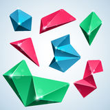 Polygon bubbles. Rumpled polygon bubbles for speech.  illustration Royalty Free Stock Image