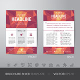 Polygon business brochure flyer design layout template in A4 siz Stock Image