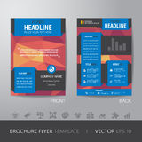 Polygon business brochure flyer design layout template in A4 siz Royalty Free Stock Photography